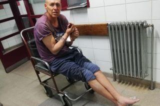 Revisión. El detenido fue evaluado en el hospital Central.