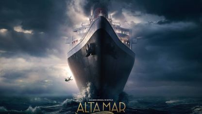 El lujoso y enigmático afiche con que se difunde la serie española.