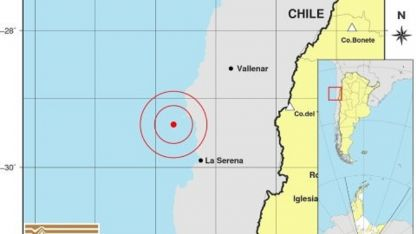 El epicentro fue al noroeste de Coquimbo.
