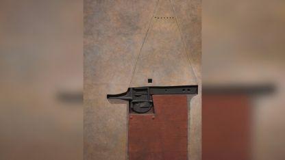 Visión abstracta. Una de las obras de Marcelo Bonevardi que se exhiben en el Museo Carlos Alonso.