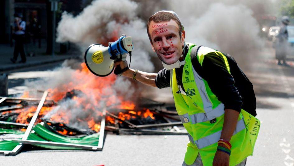 Tensión en París en otra jornada de protestas de los 'chalecos amarillos'