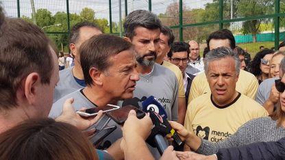 El anuncio de Rodolfo Suarez durante la inauguración de un nuevo espacio deportivo
