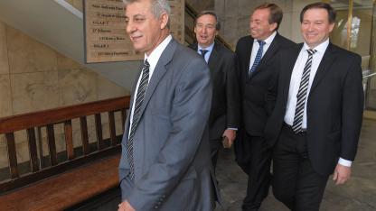 Cuatro en guerra. Giménez, Félix, Aveiro y Righi, los intendentes del PJ que fueron a la Justicia para poder ser candidatos otra vez.