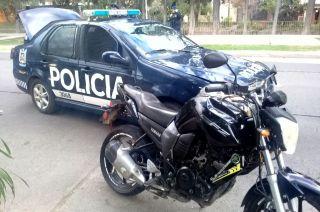 Recuperada. La moto Yamaha robada hace un año.
