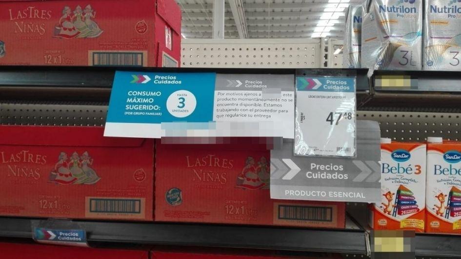 Ya hay quejas de consumidores porque no se consigue en Mendoza leche a precios cuidados