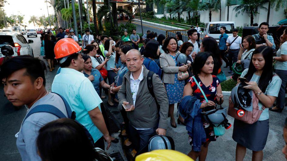 Un terremoto en Filipinas dejó tres muertos, varios heridos y personas desaparecidas