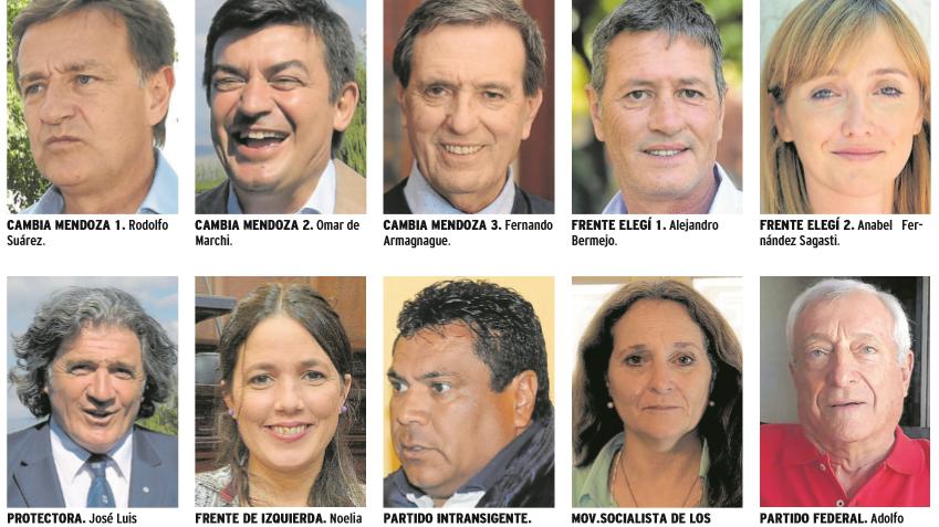 Diez fórmulas competirán por la gobernación en las PASO de Mendoza