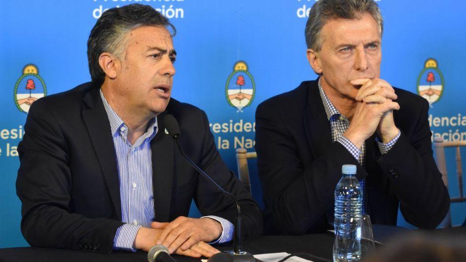 Cornejo viaja a Buenos Aires para reunirse con Macri y otros gobernadores de Cambiemos