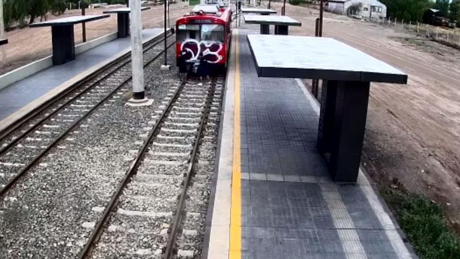 Video: así vandalizaron el metrotranvía en tan solo 40 segundos