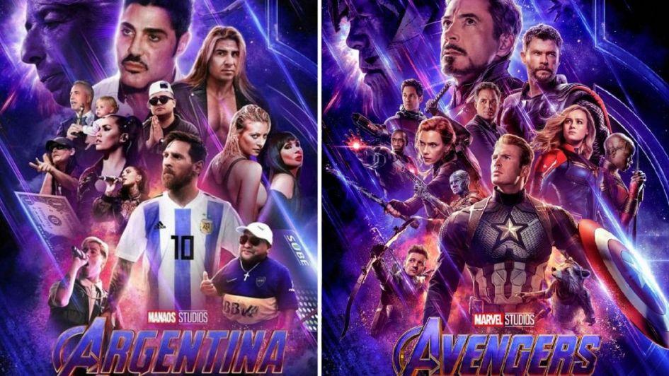 Viral: la versión local del poster de Avengers con Fort, Lali y Messi como protagonistas