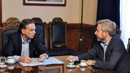 Miguel Pichetto y el ministro del Interior, Rogelio Frigerio.