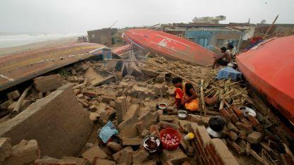 El ciclón voló techos y casas.