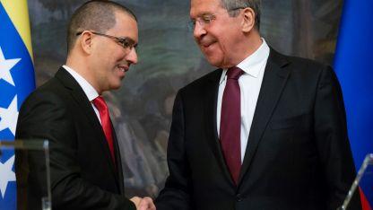 Cancilleres. Jorge Arreaza y Serguei Lavrov.