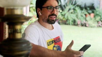 Freddy Guevara. Un líder opositor refugiado en la embajada de Chile en Caracas.