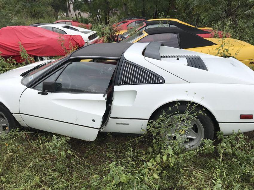 Encontraron un campo repleto de Ferrari clásicas abandonadas
