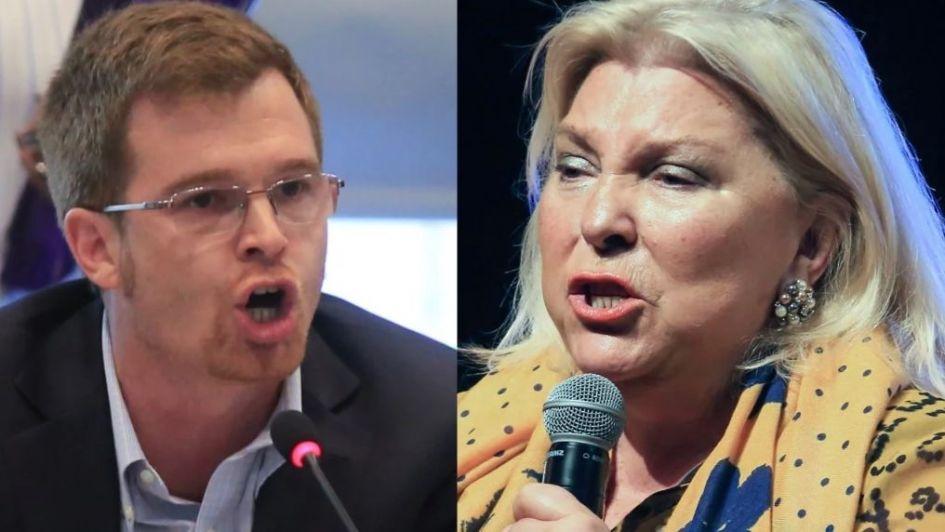 Fuerte insulto de Carrió a Massot en los pasillos del Congreso