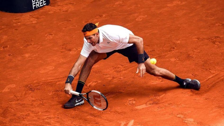 Delpo ganó dos partidos en un día en el Masters de Roma
