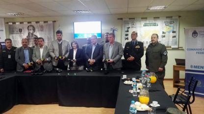 La ministra Bullrich estuvo ayer en Mendoza.