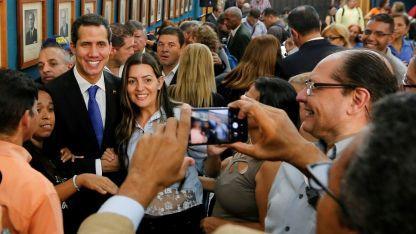 """Cautela. Juan Guaidó sostuvo que la oposición no se prestará a """"una negociación falsa"""" con el chavismo."""