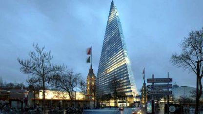 """""""Torre Triángulo"""". El nuevo rascacielos, cerca de la Torre Eiffel, tendrá 180 metros de alto."""
