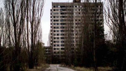 Edificios abandonados en la ciudad de Prípiat.