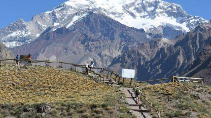 Imponente. El Aconcagua, con el pico más alto de América y símbolo de Mendoza, no logró el podio.