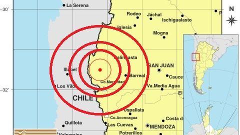 Enjambre sísmico en la región: tembló 9 veces en San Juan y Chile