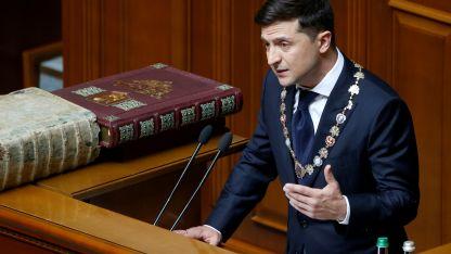 Mandatario. Vladimir Zelenski asumió ayer.