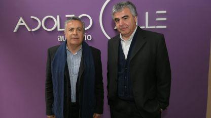 Alfredo Cornejo (Gob.) y Raúl Pedone (Editor General de Los Andes)