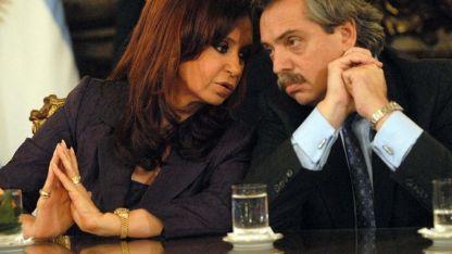 Candidatos. Cristina y Alberto Fernández.
