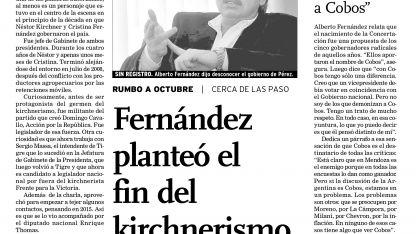 La entrevista de Alberto F. con Los Andes.