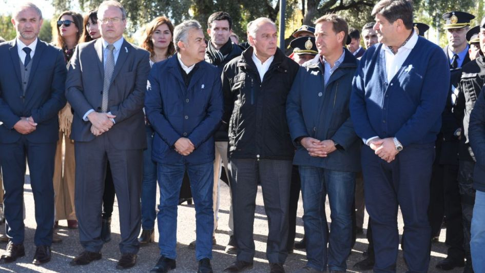 Sin Félix, Cornejo inauguró una cárcel en San Rafael