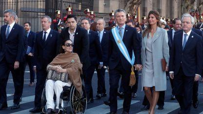 Macri estuvo esta mañana en el Tedeum.
