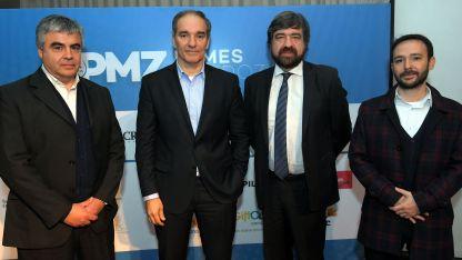 Raúl Pedone, Luis García, Hernán de Goñi y Cristian Findling.