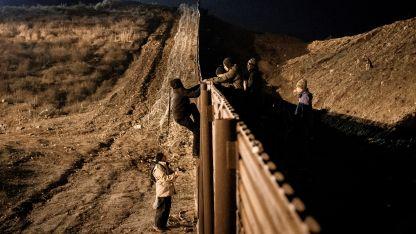 Frontera que separa Estados Unidos y México.