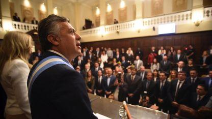 Despedida. El 1 de mayo pasado Alfredo Cornejo dio su último discurso ante la Asamblea Legislativa