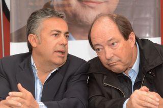Acercando posiciones. Cornejo y Sanz participaron de una previa en la sede del Comité Nacional.