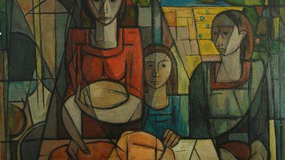 El pan, una de las obras expuestas en la Mansión Stoppel.