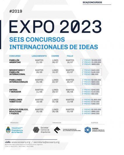 Seis concursos internacionales de ideas para la Expo 2023