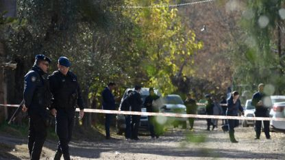 El lugar donde se cometió el doble crimen el jueves, pero los cuerpos fueron encontrados el viernes.