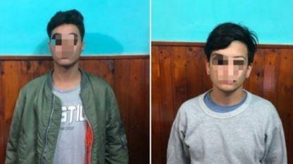 Roberto Javier Céspedes (19) y Leonel Iván Martínez (20), los jóvenes aprehendidos.