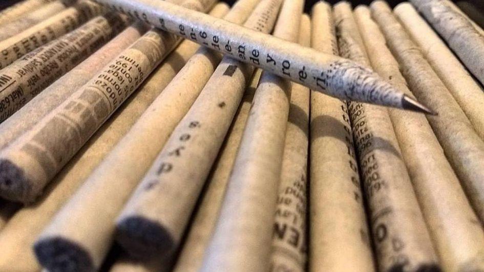 Estudiantes mendocinos crearon lápices de papel reciclado para cuidar el medio ambiente
