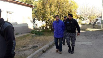 Guerrero lfue llevado hoy a los tribunales de Valle de Uco.
