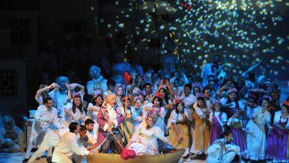 Gaeta y Rodríguez Rial en un fragmento del segundo acto.