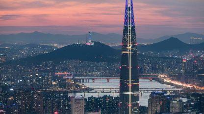 Torres. Seúl es otra ciudad asiática plagada de torres y rascacielos.