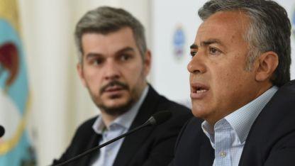 Cornejo, acompañado por Sanz, se reunió con Peña para definir las listas