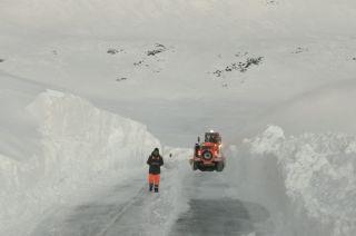Malargüe. Ayer se registraron fuertes nevadas en el Paso Pehuenche con importante acumulación.