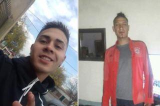 Alexis Gómez (20) y Juan Esteban Poroyan (30) los jóvenes asesinados
